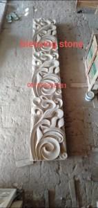 Batu Paras Ukir Relief Dekorasi Dinding Motif Batik