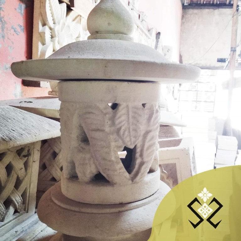 LAMPION BATU PARAS UKIR