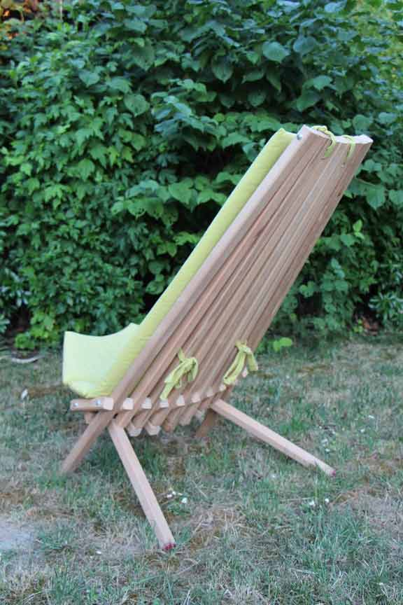Chaise polynésienne en bois sur mesure artisan saint Maur 914