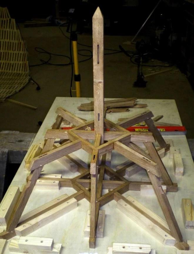Maquette en bois construction