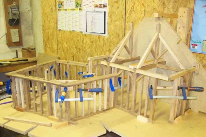 fabrication de Maquettes en bois artisan