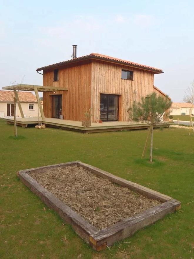 Construction en bois d'une maison ossature bois