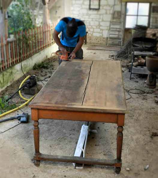 rénovation de meuble en bois artisan 91