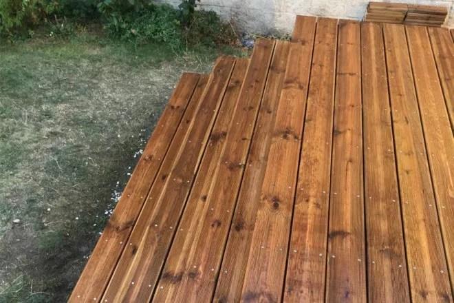 Réalisations aménagement extérieur en bois terrasse 94