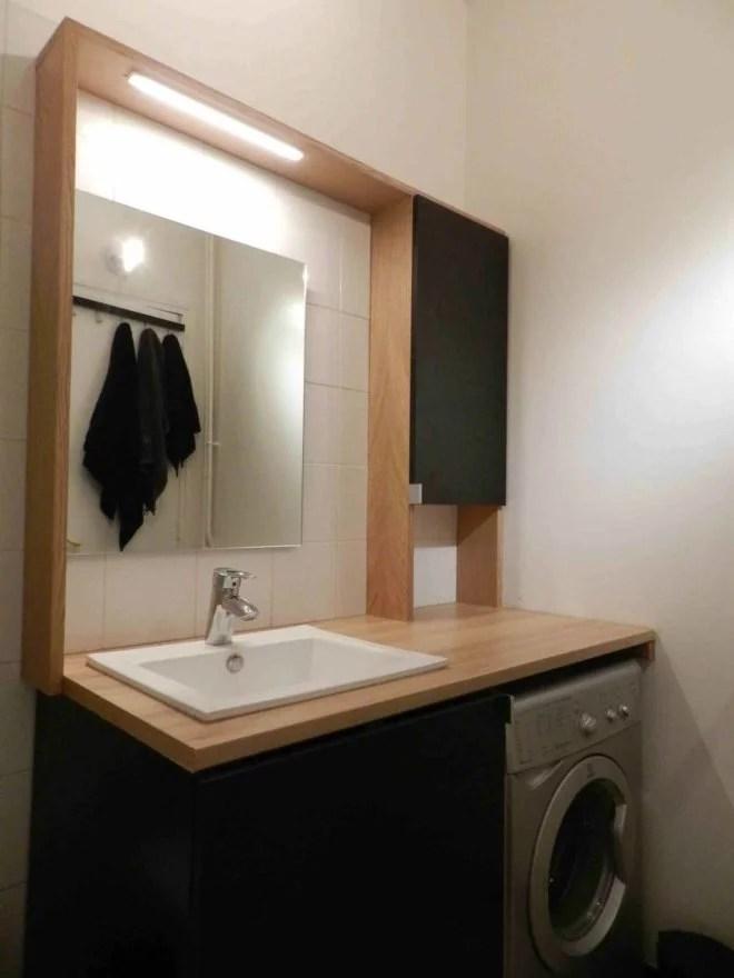 meuble en bois sur mesure salle de bain artisan paris 75
