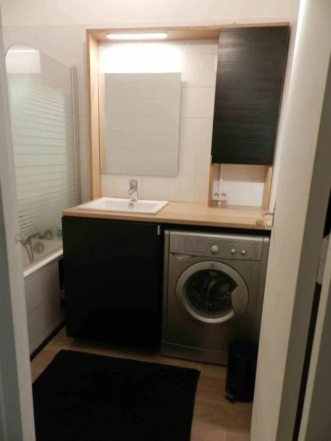 aménagement intérieur petit salle de bain fonctionnelle paris