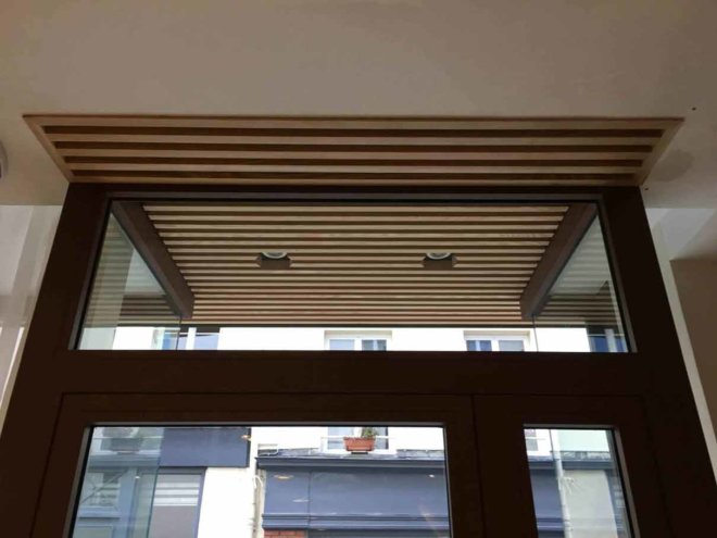 aménagement extérieur en bois façade artisan paris