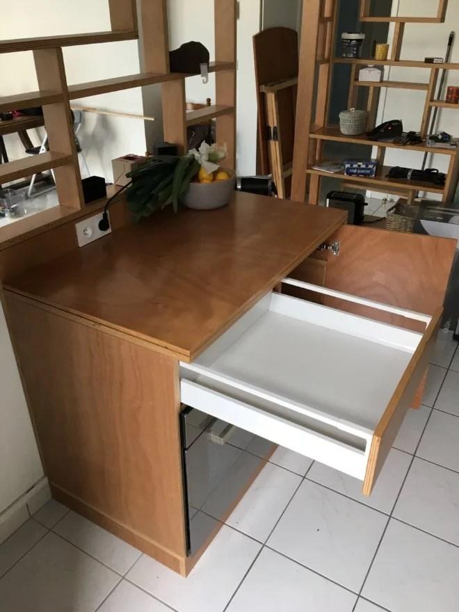 habillage meuble en bois sur mesure artisan paris