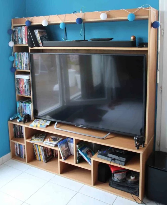 meuble tv en bois sur mesure artisan 91