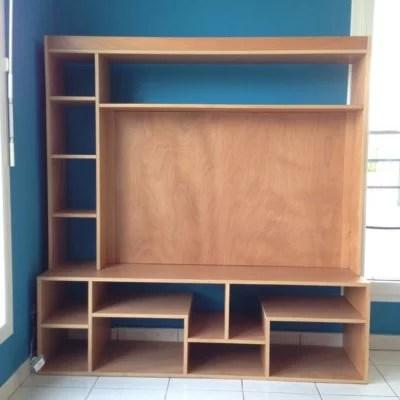 meuble télé en bois sur mesure artisan 91