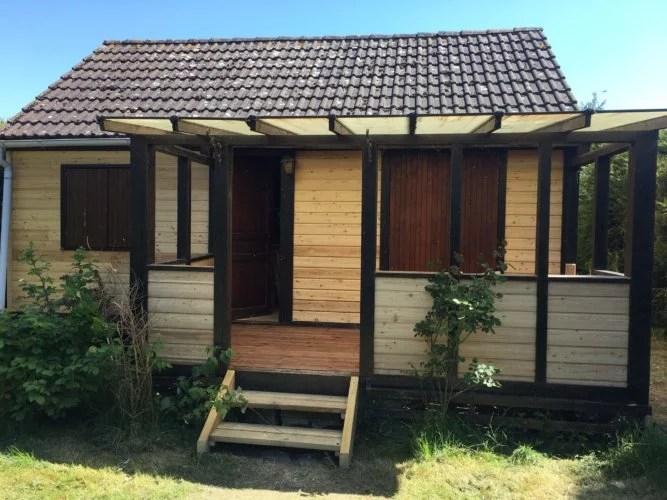 Renovation avant-après bardage bois maison