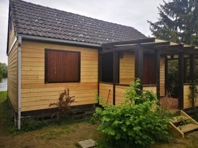 renovation bardage bois chalet artisan ile verte