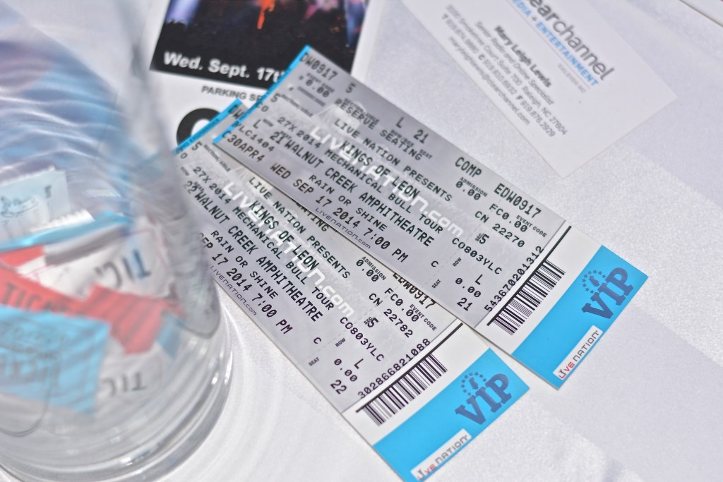 VIP tickets to Kings of Leon concert