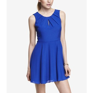 Pleated Keyhole Fit and Flare Dress | Express | Shop for it here