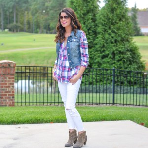 Transitioning White Jeans into Fall