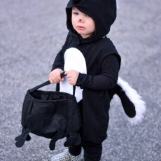 Halloween with Our Little Skunk