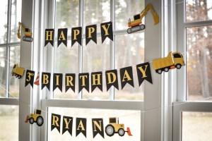 Ryan's Construction Themed 3rd Birthday Party