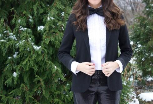 Womenswear Tuxedo With Bow Tie