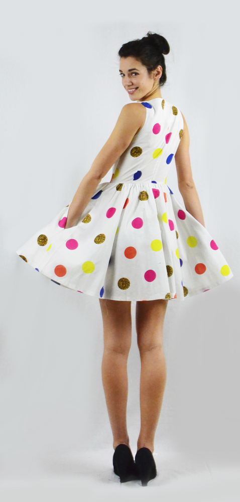 Paint the Town Polka Dot Dress