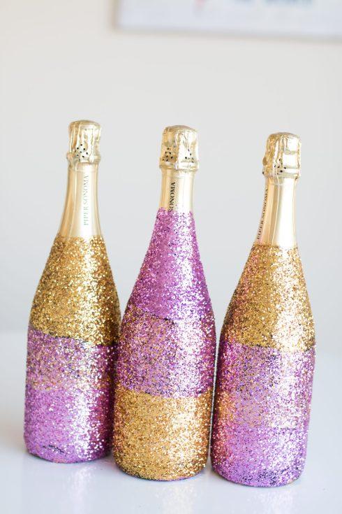 Glitter Champagne Bottles