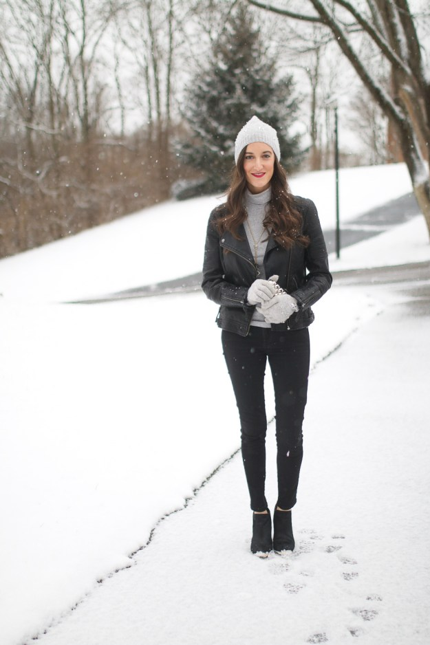 Grey and Black outfit