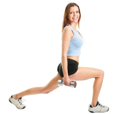 Turnt-Up Triceps. The jumping lunge not only helps tone your legs while you work your arms, but it also boosts your cardio output!