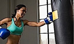 Punching Bag. Even if you don't have a real bag, make sure to punch energetically in the air and to tighten your muscles for full results.