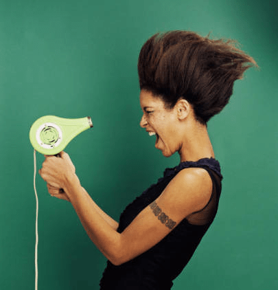 black-woman-blow-dryer
