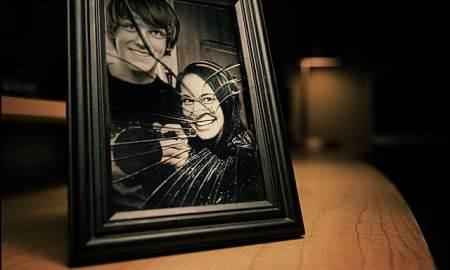 End of a relationship broken picture frame