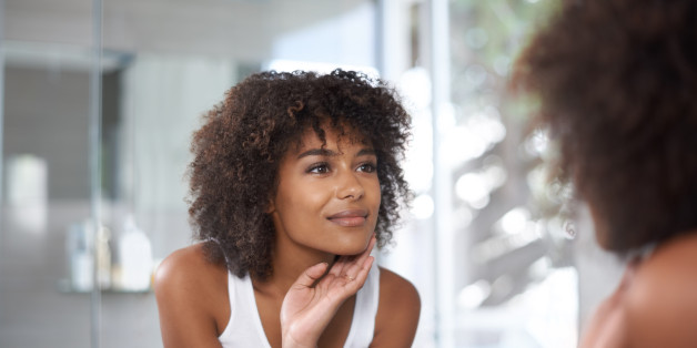 morning skincare routine black woman