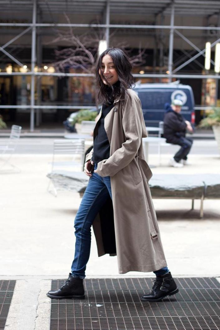 Le-Fashion-Blog-Rainy-Day-Style-Inspiration-Aziza-Azim-Long-Trench-Coat-Turtleneck-Skinny-Jeans-Buckle-Boots