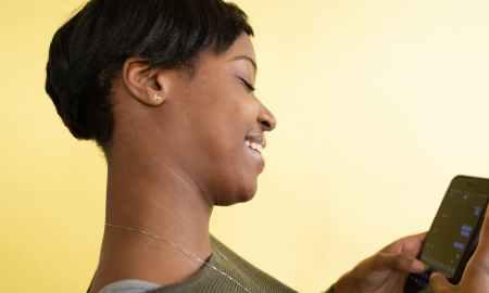 Black woman with haircut