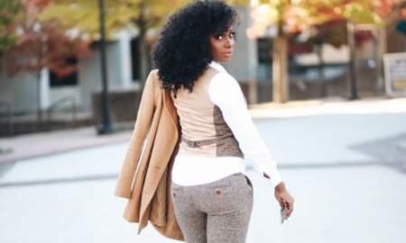 Black woman wearing suit