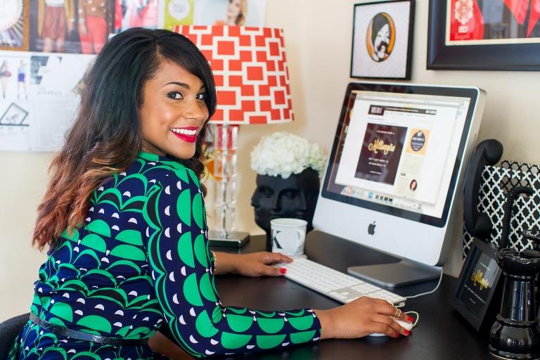 Krystle Rowry black web designer
