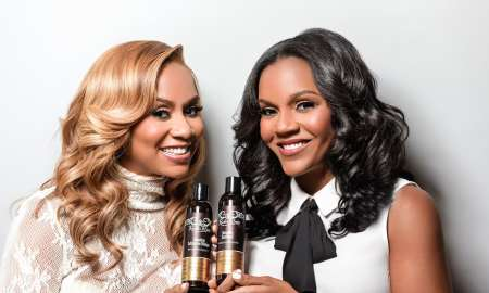 Founders of Rucker Roots hair care products