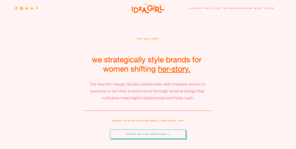 The Idea Girl Co branding services
