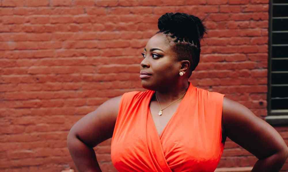 black woman thinking
