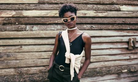 confident stylish black woman