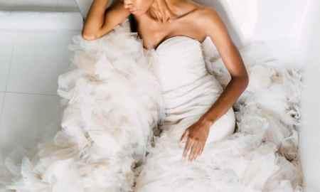 wedding gown black bride