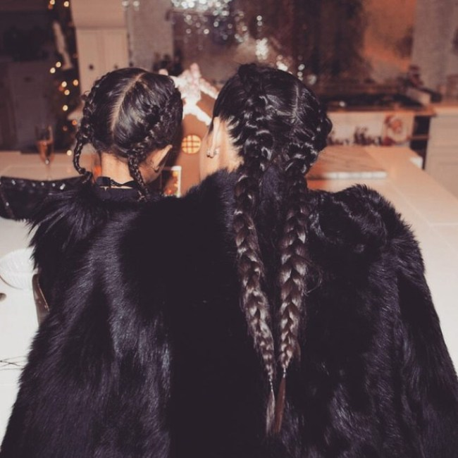 Kim Kardashian e a filha North West
