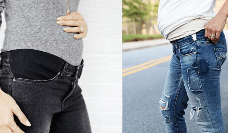 como reaproveitar a calça jeans na gestação