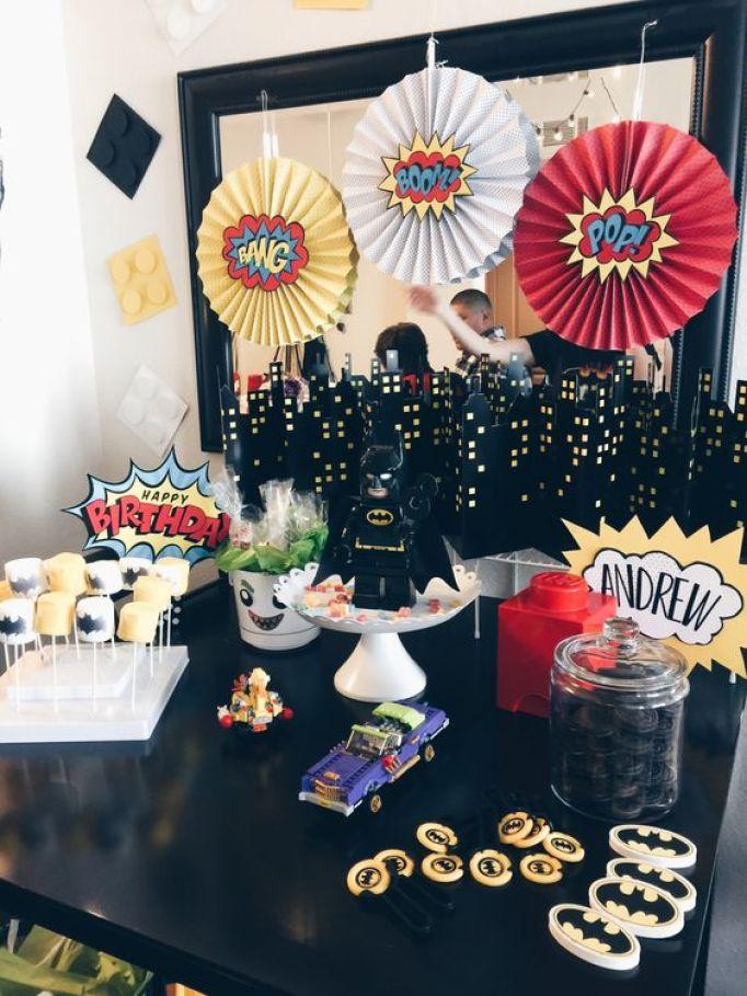 aniversário festa lego batman