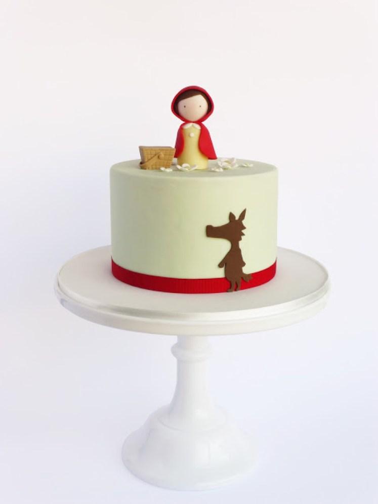 bolo clean chapeuzinho vermelho