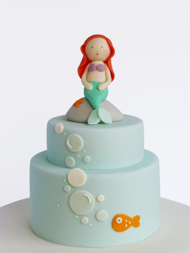 bolo clean a pequena sereia