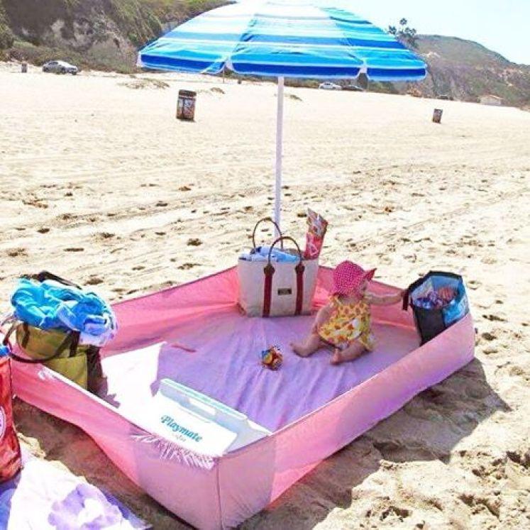lençol com elástico para montar cercadinho em praia