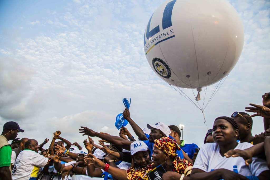 Ali Bongo en meeting de clôture au stade Nzeng-Ayong à Librevill-Baudouin MOUANDA 80_1