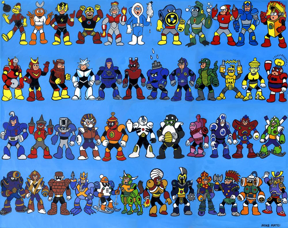 A Saga Principal De Mega Man Do 1 Ao 9 Ba Do Videogame
