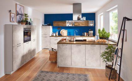 Der Beton-Look lässt sich bestens mit anderen Farben und Materialien kombinieren.