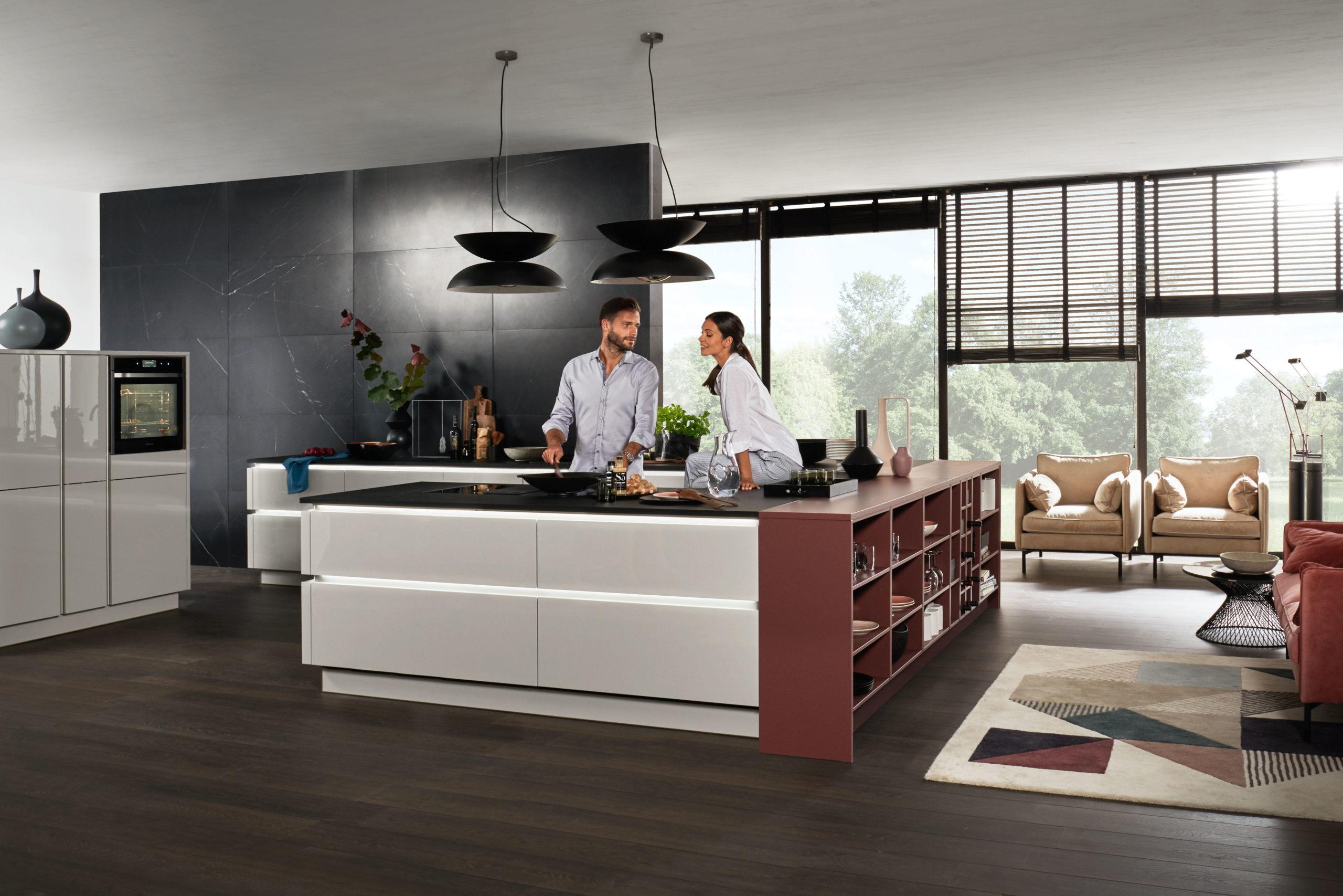 Nova Lack - Platingrau Hochglanz - Küchenplanung