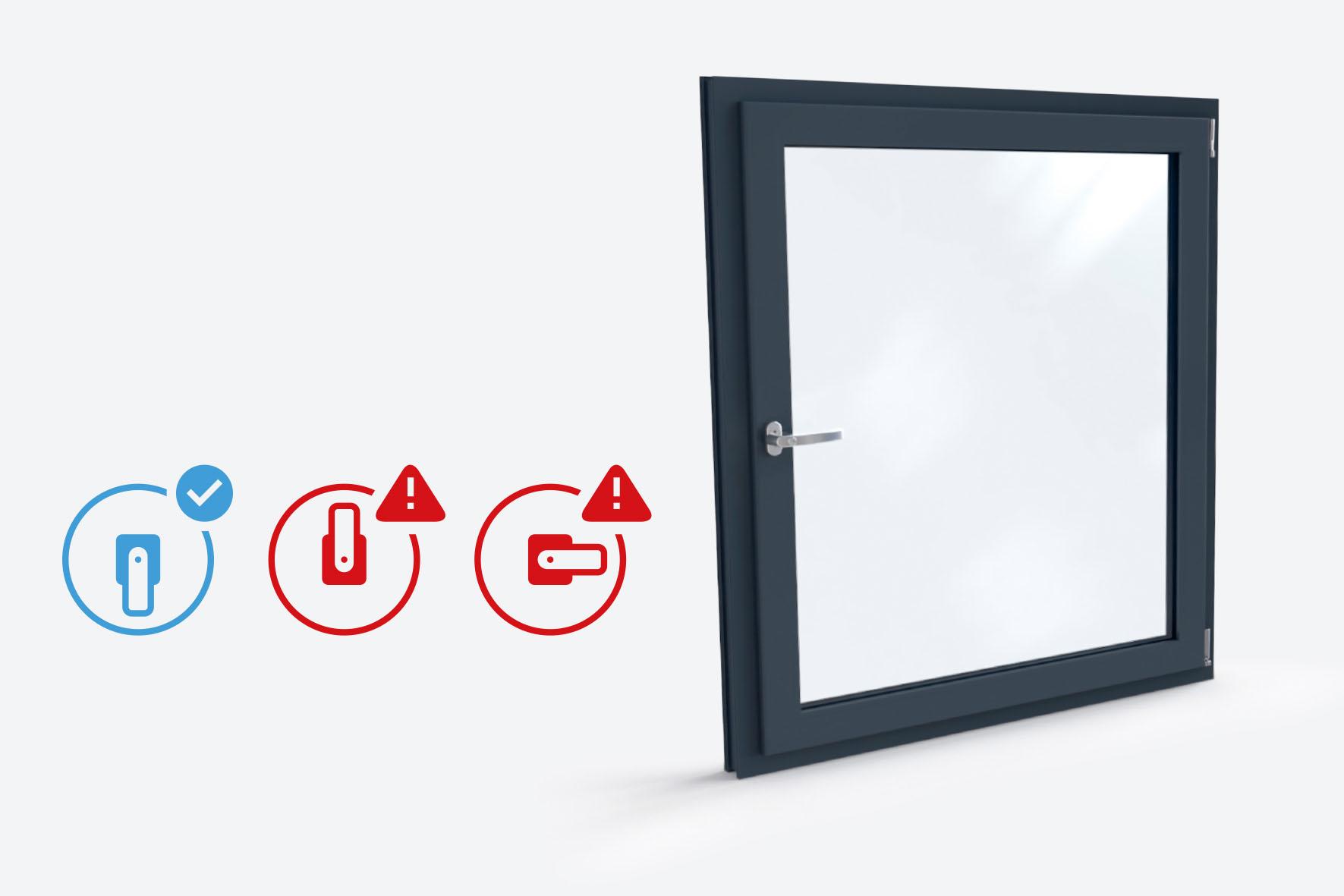 Sensoren im Fensterprofil